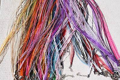 100 Mixed Set Of Organza Ribbon Necklaces