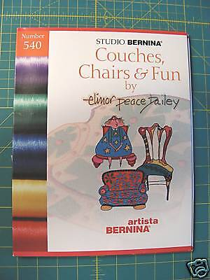 Embroidery Designs, OESD Studio Bernina Artista # 540, COUCHES, CHAIRS & FUN