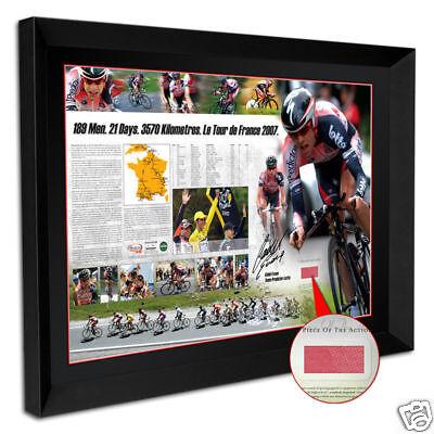 Cadel Evans Signed Framed Tour De France Limited Edition Print With Race Jersey