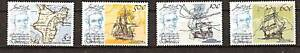 DOMINICA # 625-8 MNH CAPTIAN COOK & DISCOVERY MAPS SHIP