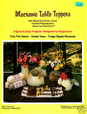 Craft Books: 990 Macrame Table Toppers Maxi Cord