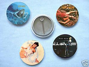 Roxy Music-Set Of Four  Badges Bryan Ferry Brian Eno