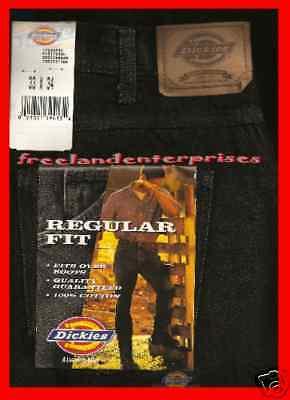 Mens Pants Dickies Denim Jeans Black Size 33 X 34