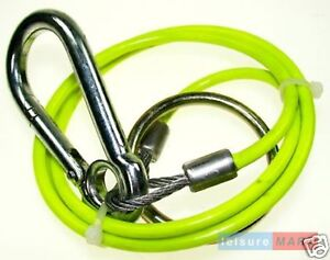 Trailer caravan breakaway cable split ring fluorescent