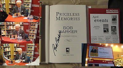 Signed Book Priceless Memories Bob Barker 1/1 Dj Hc Price Is Right 1st/1st
