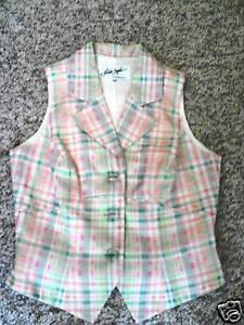 LINDA-SEGAL-2-PIECE-DRESS-SHORTS-OUTFIT-VEST-MISSES-10