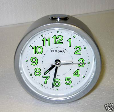 SEIKO - PULSAR ROUND ALARM CLOCK WITH QUIET SWEEP PHE031SLH
