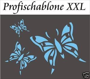 wandtattoo schablone wandschablone schmetterlinge 2 xxl ebay. Black Bedroom Furniture Sets. Home Design Ideas