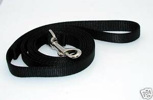 NEW-6-Dog-Nylon-Leash-Lead-Black-Small-5-8-W