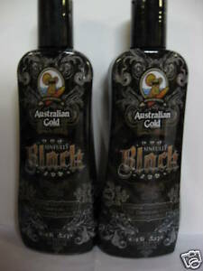LOT OF 2 AUSTRALIAN GOLD SINFULLY BLACK  15X BRONZER TANNING BED TAN LOTION NEW