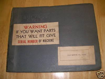 Bucyrus-erie Shovel Crane Hoe Parts Manual 20-b