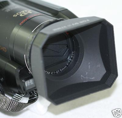 46mm Digital Video Lens Hood For Sony Hdr-pj650v Hdrpj650 Hdrpj650v 650v Pj650