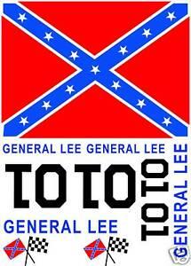 Dukes Of Hazzard General Lee Golf Cart Atv Decal
