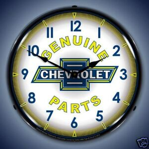 NEW-CHEVY-PARTS-RETRO-BACKLIT-LIGHTED-CLOCK-FREE-SHIPPING-HANDLING