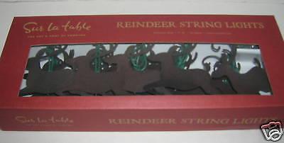Sur La Table Antique Bronze Steel Reindeer String Light