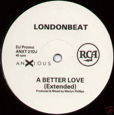 "LONDONBEAT ~ A BETTER LOVE (EXTENDED) ~ 1990 UK 3-TRACK ""PROMO"" 12"" (NM/EX)"