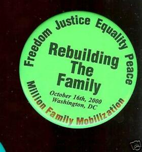 October 16 2000 old pin MILLION FAMILY Mobilization MARCH Civil RIGHTS