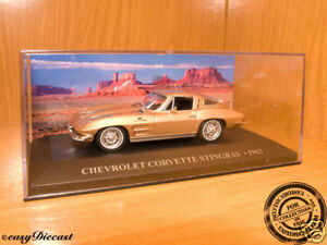 CHEVROLET-CORVETTE-STINGRAY-STING-RAY-1963-1-43-MINT