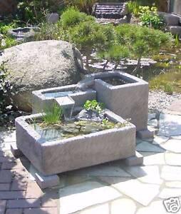 Das Bild Wird Geladen Gartenbrunnen Brunnen  Springbrunnen Wasserspiel Werksandstein Stein 262kg Garten