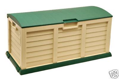 Auflagenbox , Kissenbox Garten Xxl, Gartentruhe, Gartenbox, Grün Beige