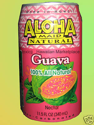 12Can Aloha Maid Guava Fruit Juice All Natural