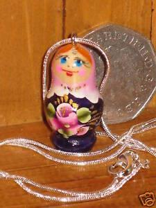 Russian-Doll-pendant-LILAC-PURPLE-Babushka-silver-chain