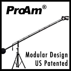 ProAm-12-ft-DVC250-DV-Video-Film-Camera-Crane-Boom-Jib-with-Support-Stand-NR