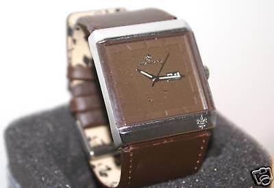 Genuine Henleys 22778543 Men's Leather Wristwatch
