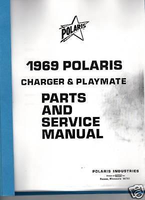1969 POLARIS CHARGER & PLAYMATE PARTS SERVICE MANUAL