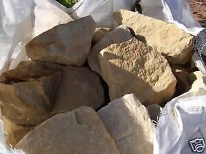 980 kg findlinge bruchsteine sandstein 100 300 mm f r. Black Bedroom Furniture Sets. Home Design Ideas