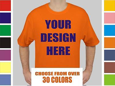 100 Custom Silk Screen Printed T-Shirts ANY COLOR - $3.25 EACH BULK TEE