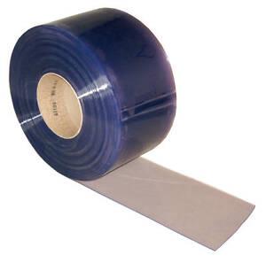 PVC-Streifen-Lamellen-Vorhang-100x2mmx50mtr-klare-Rolle