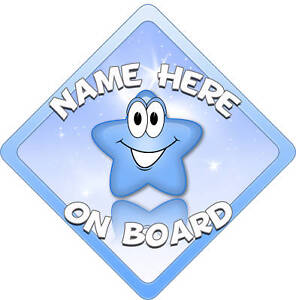 Blue-Star-Baby-on-Board-Car-Window-Sign-New
