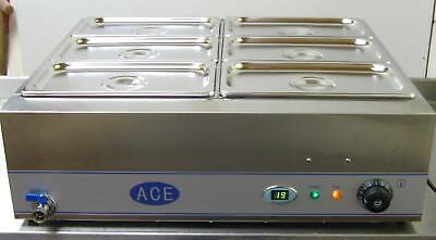 NEW LARGE 6X1/3 GASTRONORMS 150MM DEEP WET BAIN MARIE
