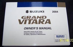 2004-Suzuki-Grand-Vitara-Owners-Manual-Parts-Service