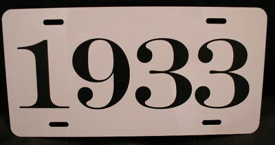 1933 Year License Plate Fits Chevy Ford Chrysler Buick Dodge Plymouth Hudson Reo