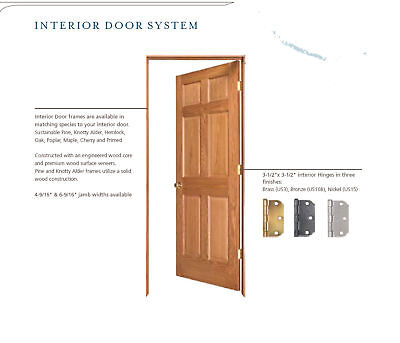 4 Panel Raised Clear Pine Stain Grade Solid Core Interior Wood Doors 6 39 8 Prehung Ebay