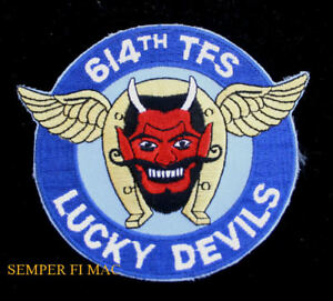 614-TFS-LUCKY-DEVILS-PATCH-US-AIR-FORCE-PILOT-CREW-GIFT-PIN-UP-F-16-F-100-AFB