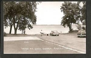 osakis minnesota mn 1940s rppc lake boat r car dog ebay