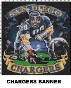 Nfl San Diego Chargers Mascot Cross Stitch Pattern Ebay