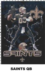 NFL New Orleans Saints Mascot cross stitch pattern