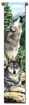40 Wolf Wolves Nature Bell Pull Tapestry Wall Hanging