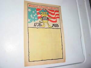 1976 76 Wildcat Fireworks Stand Vintage Newspaper AD