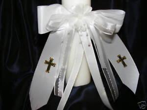 Kerzenschleife für Taufkerze Kommunionkerze S 006