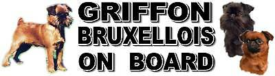 GRIFFON BRUXELLOIS ON BOARD Car Sticker by Starprint