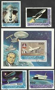 Space-Shuttle-Set-with-Souvenier-Sheet-Comoro-Is