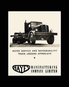 c-1945-HAYES-Logging-Truck-reprint-Photo-Vancouver