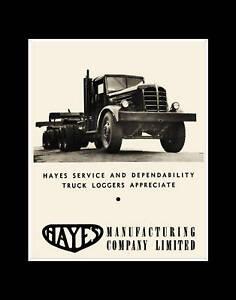 c-1945-HAYES-Logging-Truck-reprint-Photo-Vancouver