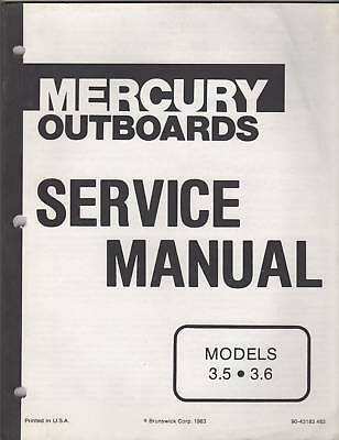 1984 Mercury Mariner Outboard 3.5 & 3.6 Service Manual