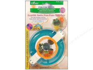 Clover-Pom-Pom-Maker-X-Large-Jumbo-4-1-2-115mm-item-3128